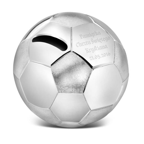 spersonalizowana skarbonka piłka