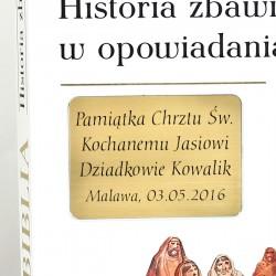 grawerowana biblia na pamiątkę chrztu świetego