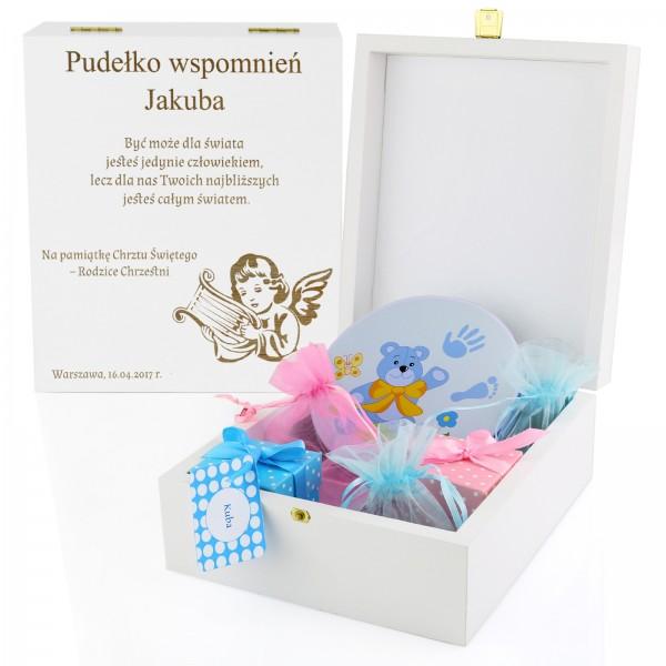 spersonalizowane pudełko wspomnień chłopca