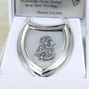 srebrny ryngraf w pudełeczku z grawerem
