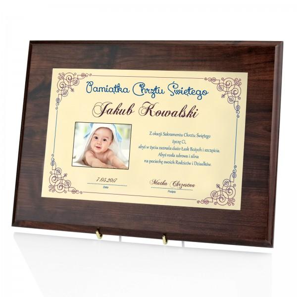 spersonalizowany dyplom na chrzest dla chłopca