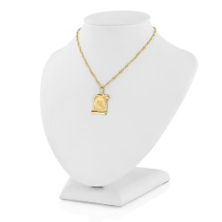złoty łańcuszek z medalikiem 585 na prezent na chrzciny