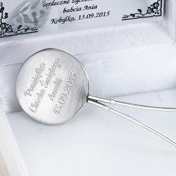 srebrna grzechotka na chrzest