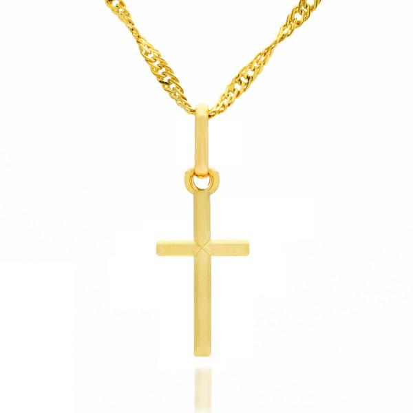 złoty krzyżyk pr. 585 na łańcuszku
