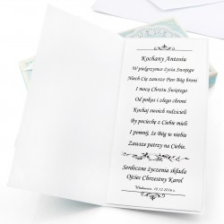 ręcznie robiona kartka na Chrzciny