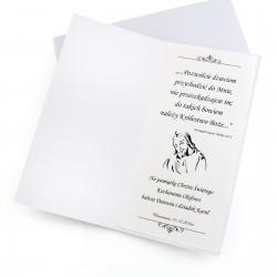spersonalizowana kartka z okazji chrztu świętego - ręcznie robiona
