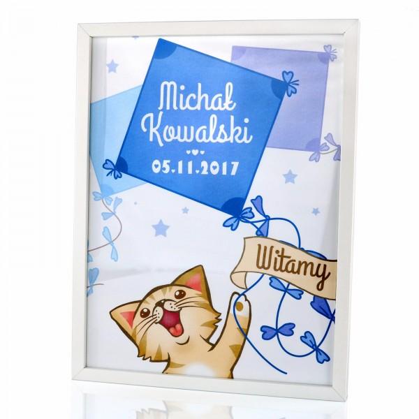 Plakat Dla Chłopca W Ramce Na Prezent Z Personalizacją