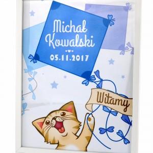 plakat z personalizacja w ramce na prezent dla dziecka