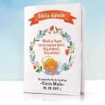 biblia z personalizowaną okładką na prezent na chrzest