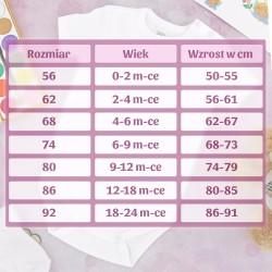 body z nadrukiem dla dziewczynki na prezent na narodziny
