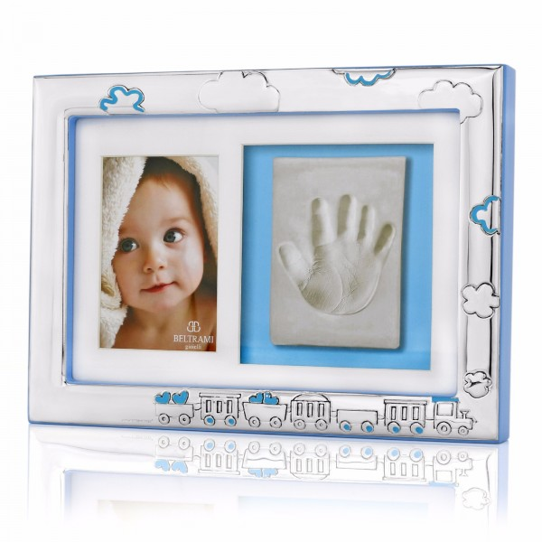 ramka na zdjęcie i odcisk na prezent na chrzest