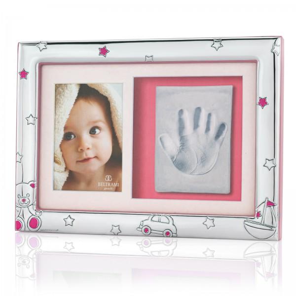 ramka na zdjęcie i odcisk z grawerem na prezent dla dziewczynki