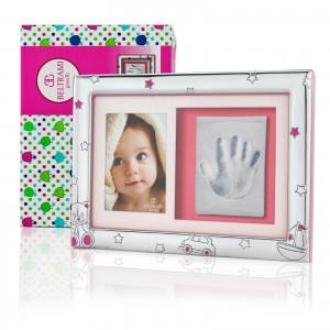 ramka na zdjęcie i odcisk na prezent na chrzest dla dziewczynki