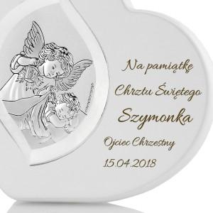 obrazek anioł stróż z grawerem na prezent dla dziecka