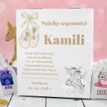 grawerowane pudełko wspomnień na prezent dla dziewczynki