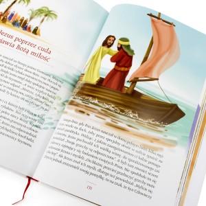 biblia w obrazkach na prezent na chrzciny dla chłopca