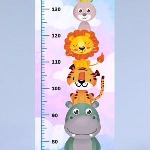 miarka wzrostu na prezent z kolorowym nadrukiem dla chłopczyka
